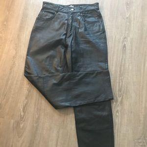 Wilson Matrix Leather Pants Sz 10 NWOT